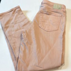 Light pink/peach AG jeans